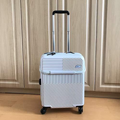 カスタムPCトロリーケースユニバーサルホイール男性と女性搭乗スーツケース旅行荷物を供給,White,20inch B07V5Y1MZG White 20inch