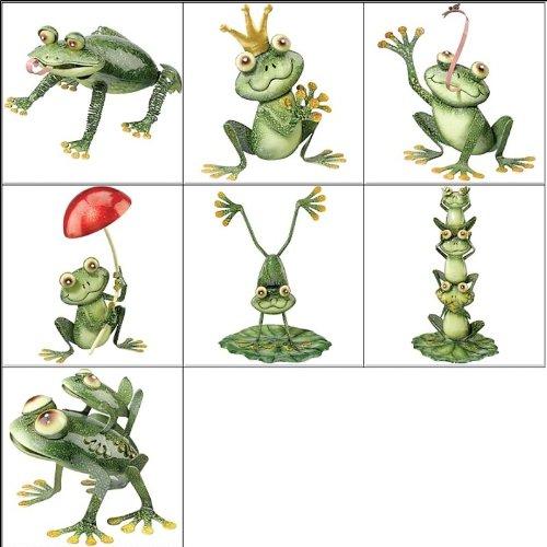 Regal Art and Gift Frog with Mushroom Garden (Crest Vase)