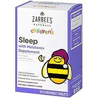 Zarbee's Naturals Children's Sleep Chewable Tablet with Melatonin, Natural Grape Flavor, 30 Chewable Tablets