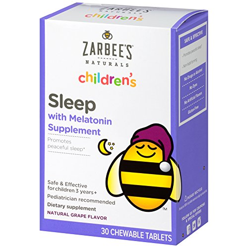 Zarbee's Naturals Children's Sleep Chewable Tablet with Melatonin, Natural Grape Flavor, 30 Chewable Tablets ()