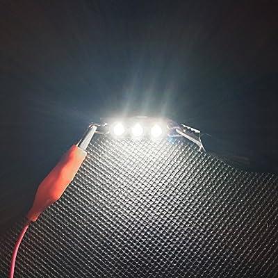 2pcs CREE Rigid TWISTED Loop Festoon LED Bulbs Car Interior Lights 1.73