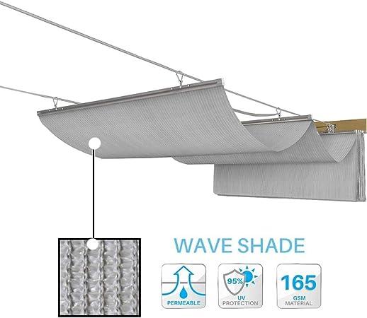 GDMING Retráctil Vela De Sombra Versión Actualizada 2020 Ola Pabellón Reemplazo Cubierta De Pérgola Protección UV Permeable Conducción Techo Toldo Poliéster Tamaño Personalizado: Amazon.es: Hogar