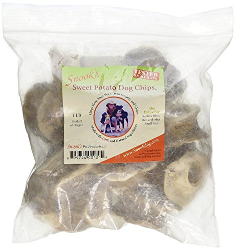 Snook's Sweet Potato Chips for Dogs 1 Pound Bag by Snook's