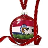 Christmas Decoration Soccer Team Flag Missouri region America (USA) Ornament