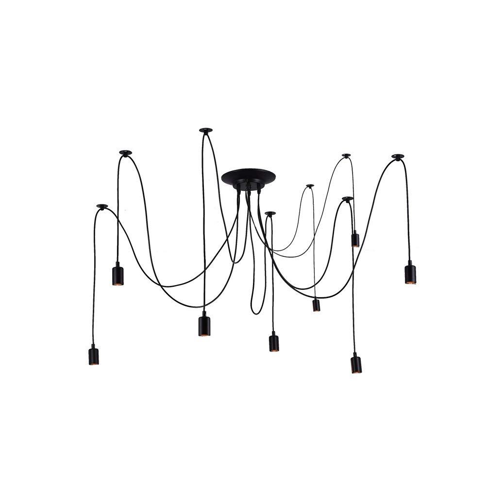 modernes Design 8 Lights wei/ß verstellbar Spinnen-Design ohne Leuchtmittel metall CloudWhisper Industriel/üster//Deckenleuchte