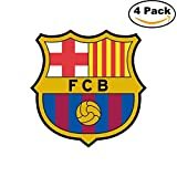 FC BARCELONA Vinyl DieCut Decal Logo Spainish Football Soccer 4 Stickers