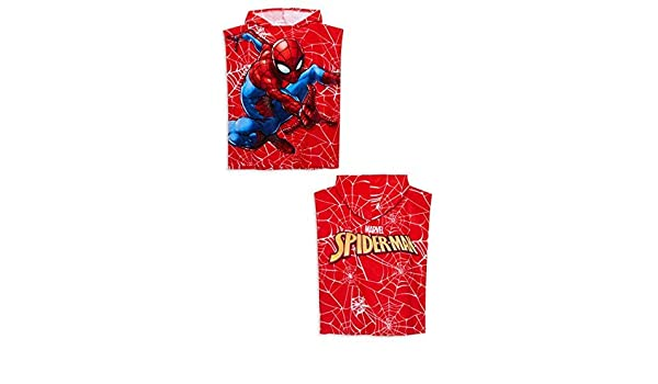 Primark Marvel Niños Batman Spider-Man Toalla de Baño Toalla Poncho con Capucha 50 cm x 115cm - Rojo Spiderman, 50cm X 115Cm: Amazon.es: Hogar