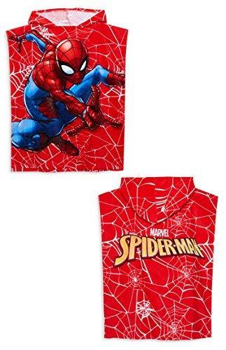 Primark Marvel Niños Batman Spider-Man Toalla de Baño Toalla Poncho con Capucha 50 cm