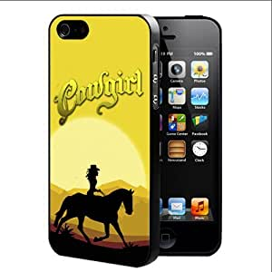 Southern Cowgirl In The Desert Hard Snap On Cell Phone Case Cover (iPhone 5 5s) by runtopwell