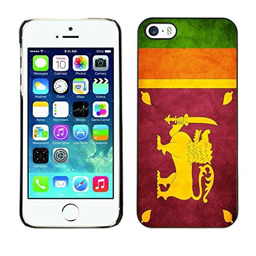 Omega Case PC Polycarbonate Cas Coque Drapeau - Apple iPhone 5 / 5S ( Sri Lanka Grunge Flag )