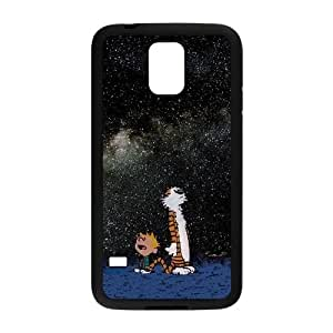 Calvin and Hobbes Starry Night Samsung Galaxy S5 Cell Phone Case Black 8You226551