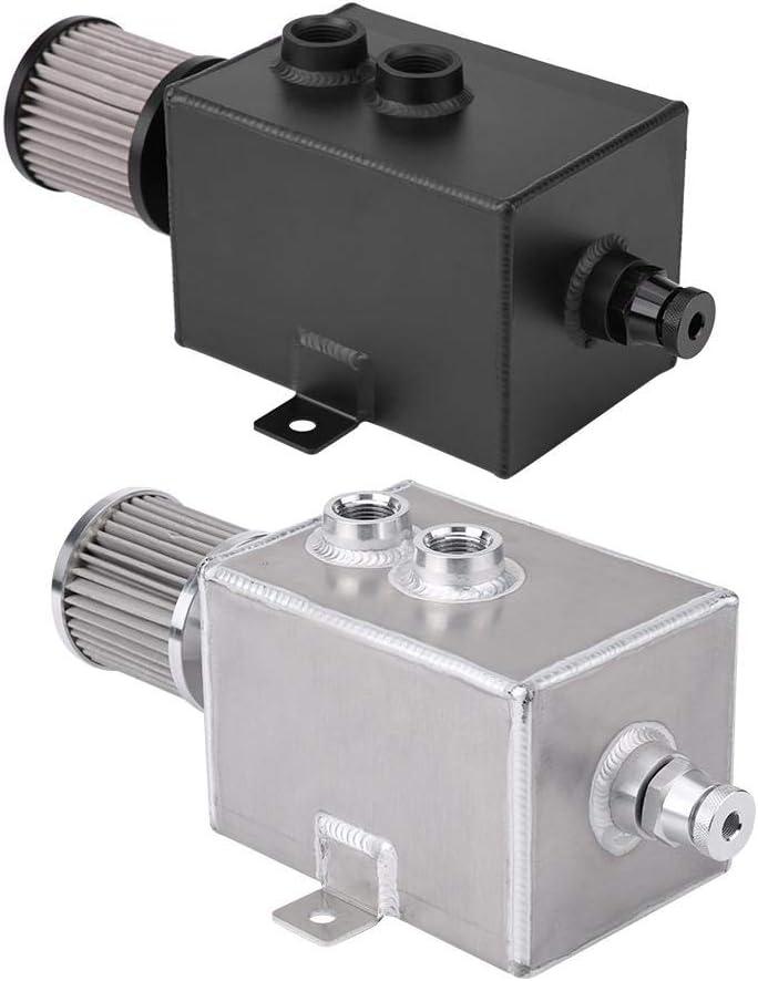 R/écup/érateur dhuile Voiture 2L en Alliage daluminium Durable R/éservoir /à Huile Haute R/ésistance L/éger et Durable Argent