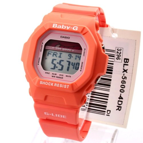 Casio BLX5600-4 Baby-G G-Lide Tide Graph Orange Tangy Digital Watch