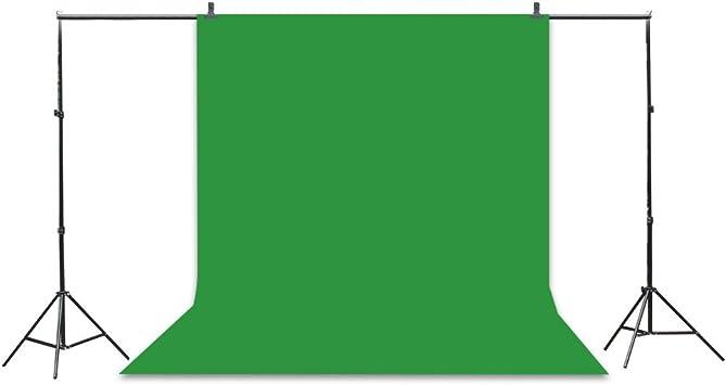 Kit de 3 fondos plegables de croma para estudio fotográfico profesional con pack de soporte: Amazon.es: Electrónica