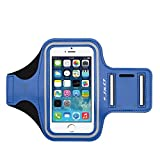 iPhone 5S/5 Armband, J&D Sports Armband for Apple iPhone 5S/5, Key holder Slot, Perfect Earphone Connection while Workout Running (iPhone 5S/5, Blue)