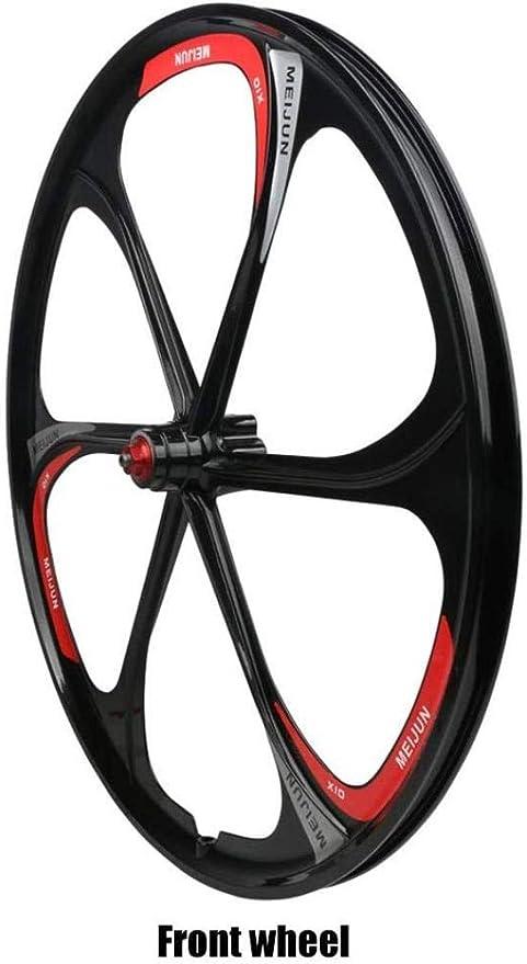 LIMQ Fahrradradsatz 26 Zoll Integrierter Radsatz Aus Magnesiumlegierung Mit Fahrradverdickung,Red