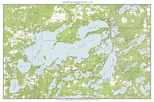(Whitefish Lake Chain - ca. 1973 - USGS Old Topographic Map Custom Composite Minnesota)