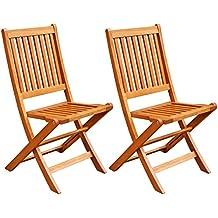 LuuNguyen Win Outdoor Hardwood Folding Chair (Natural Wood Finish), Set of 2