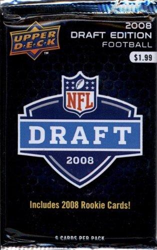1 (One) Pack - 2008 Upper Deck NFL Draft Edition Football Retail Pack (6 Cards per Pack) - Possible Matt Ryan, Matt Forte, Chris Johnson, Joe Flacco, DeSean Jackson, Darren McFadden, and/or Felix Jones Rookie Cards!!!!