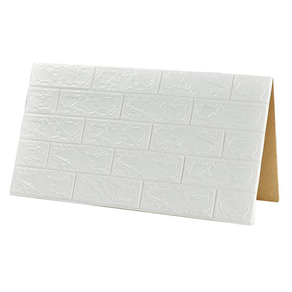 LLJ PE発泡綿自己接着壁紙アンチコリジョン3Dウォールデコレーションステッカーの背景壁紙防水ステッカー(70 * 77CM /ブロック) (色 : A)  A B07RTMYZWP