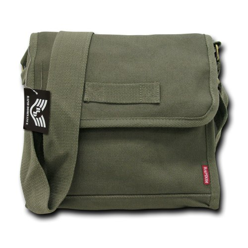Rapiddominance Heavy Weight Field Bags, Olive (Surplus Bag Army Messenger)