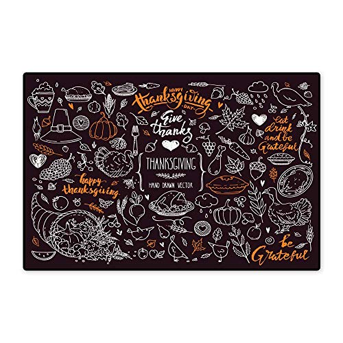 Free Clipart Templates - Door Mat indoorsThanksgiving Symbols Linear Illustrations Lettering Clipart Collection Hand Drawn Elements for Festive Flyer Poster Banner Invitation Design Templates Isolated On Background W15.75 x