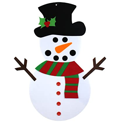yeahbeer felt christmas snowman for kids 3ft life size wall or door hanging