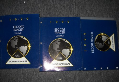 1999 Ford Escort, Tracer Workshop Manual (2 Volume Set)
