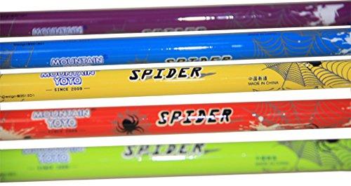 "MOUNTAIN YOYO ""Spider"" Flip Lock Light Weight (100% Carbon Fiber 168g, 5.4oz) Walking Pole Trekking Pole Walking Stick Telescoping Men Women MYYSPIDERRE1"