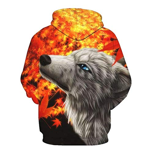 Animal color Con Multi Tops Size Ericcay Wolf Sg Para Pullovers Hombre Capucha Unisex Hop Lobos Hip 3d Novela Bolsillos Sudadera Print 8qTSUTwnx