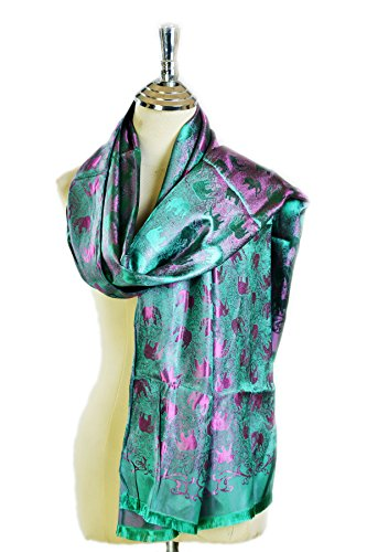 100% silk scarf by At PM