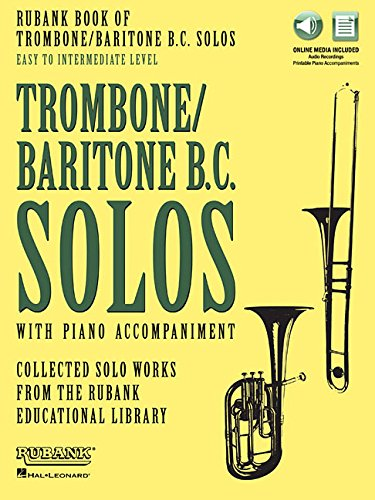 Rubank Book of Trombone/Baritone B.C. Solos - Easy to Intermediate: Book with Online Audio (stream or download)