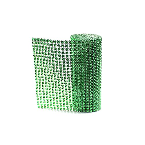 "SuZhi 4.72"" x 1 Yards 24 Row 9 Colors Roll Diamond Sparkling Rhinestone Mesh Ribbon for Event Decorations & Wedding Cake & Birthdays & Baby Shower & Arts & Crafts (9 Colors)"