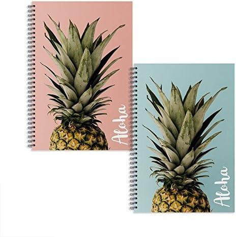 Dcasa - Libretas A5 piña Aloha - Pack 2 ud.: Amazon.es: Hogar