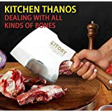 Kitory Heavy Duty Cleaver Butcher Knife Axes for Meat and Bone Chopper cutter breaker Traditional Forged Cleaver for Meat and
