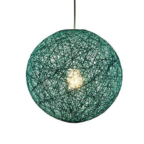 (Modern Lattice Wicker Rattan Globe Ball Style Ceiling Pendant Light Lampshade Home Dining Decoration Lamps 23 cm)