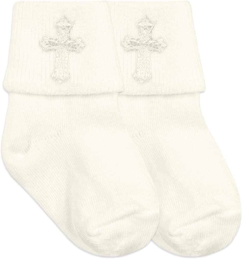Amazon.com: jefferies socks bebé niños niñas bautizo Cruz ...