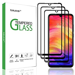 (3 Pack) Beukei for Xiaomi Redmi Note 7 and Redmi Note 7 Pro Tempered Glass Screen Protector (6.3 inches),Full Screen Coverage, Anti Scratch, Bubble Free (Not Fit for Redmi 7)