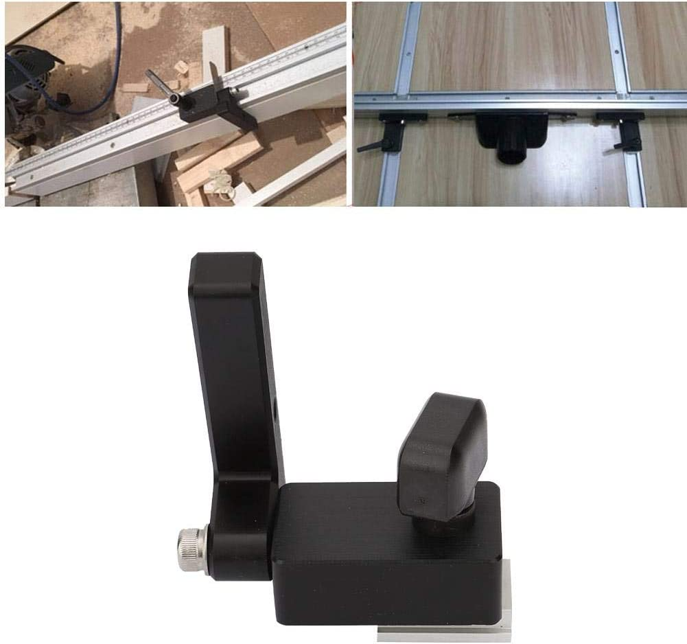 Type Miter Track Stop Retainer Router Table Woodworking Tool T Slot Locked