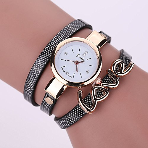 New Mens Watches, Fashion Women Watch Fashion, Leather Crystal Bracelet Ladies Quartz Analog Wrist Watch HOT, The precise surface decent watch is very charming for all occasions (Shipping faster than the time specified.) BLACK