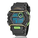 OHSEN Brand Digital Sport Water Resistant 30M Boys Children Wrist Watch Nice Gift Luxury Timepiece Green