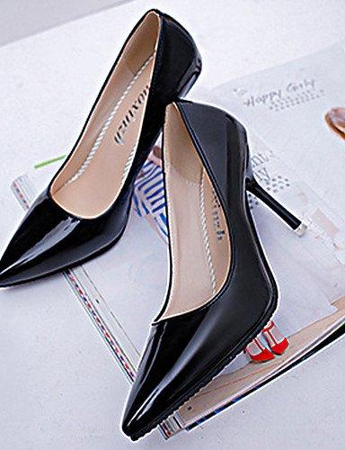 Puntiagudos Cn37 Patentado Noche De us6 Eu37 negro boda B¨¢sico Mujer Zq Zapatos 5 5 cuero Fiesta pump tacones 5 tac¨®n Rosa Black Trabajo Uk4 7 White Oficina Stiletto 5 Y 7 us6 RanpR0W6qw