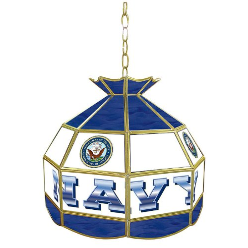 United States Navy Tiffany Gameroom Lamp, 16'' by Trademark Gameroom