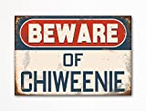 Beware of Chiweenie Dog Breed Cute Refrigerator Magnet