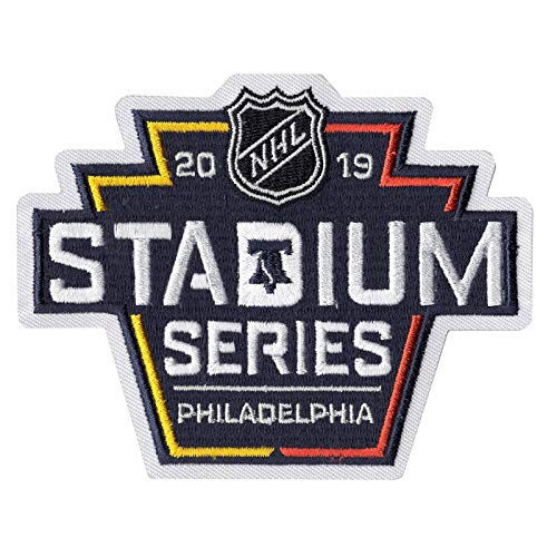 2019 Official NHL Stadium Series Game Jersey Patch Philadelphia Flyers Pittsburgh Penguins ()
