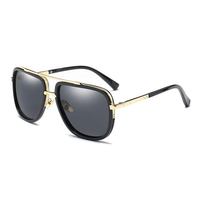 Gafas de sol de los hombres polarizados marco de magnesio de aluminio conducción gafas de sol