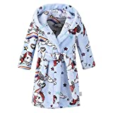Baby Boys Girls Horse Printed Hooded Robe Comfy Flannel Towel Bathrobes Sleepwear Plush Nightgowns...