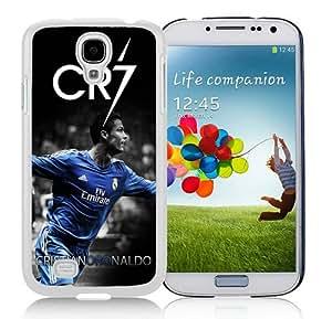 Unique Photo Case,CR7 White Custom Samsung Galaxy S4 Cover Case