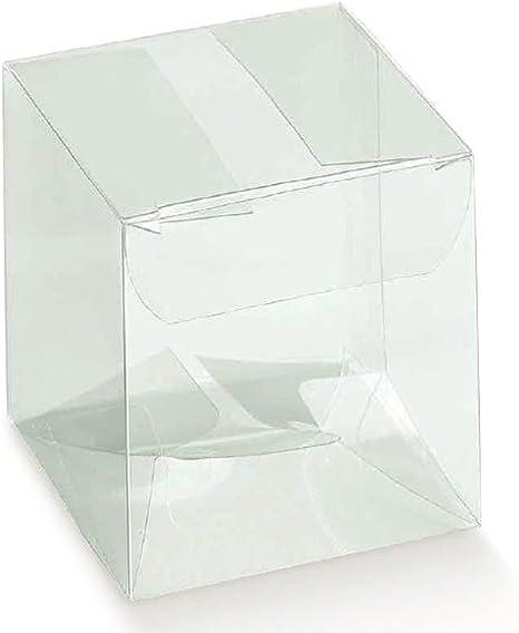 Lote de 10 PVC Box, transparente, 12 x 12 x 24 cm, Caja de cartón para Bombones Caja...: Amazon.es: Hogar
