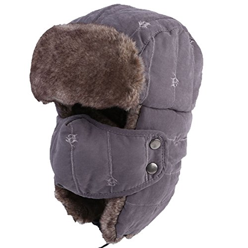 Mens Winter Bomber Máscara Flap Hat Hat Hunting Pilot Hat Bomber De Prueba Unisex ArmyGreen Mens Ear Ski A Hat Hat Viento Winter Warm 8qwxnaIZf